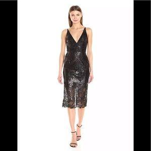 Dress the population Angela black sequin  dress